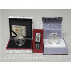 2x Royal Canadian Mint .9999 Fine Silver $100.00 RAM and $15.00 Lunar Sheep Coins (ATTN: 2 Times the