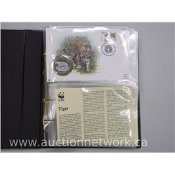 WWF 6pc Collection of Wildlife First DAy Covers, Stamps and Coins with Detailed Story on Each Animal