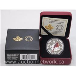 "Limited Edition .9999 Fine Silver $10.00 2015 Songbird Coin ""The Cardinal"""