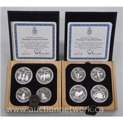 2x 1976 Olympics proof 4-Coin Sets - Series III and Series IV 8.6ounce ASW (ATTN: 2 Times the bid pr