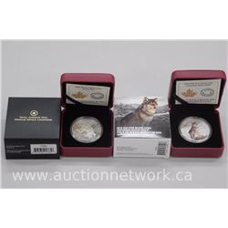 2x .9999 Fine Silver Collector Coins: Alpha Wolf and Arctic Fox. (ATTN: 2 Times the bid price)