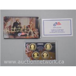 USA Presidential 4pc Proof Gold Plated x $1.00 Set with Cert.