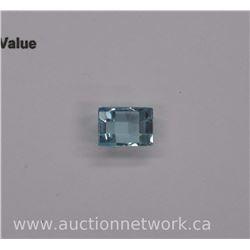 Loose Gemstone - Rectangle Cut - Blue Topaz 6.90ct. Eye Clean. SRRV: $1100.00