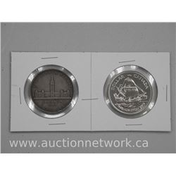 "2 x Canada Silver Dollar Coins. ""1939 and 1979"" (ATTN: 2 times the bid price)"
