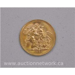 1957 22kt Gold British Sovereign