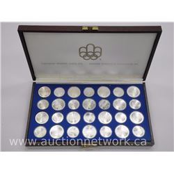 28pc Complete Set 1976 Olympic Coins - 925 Sterling Silver over 30 ounce ASW.