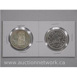 2x Canada Silver Dollar Coins: 1958 and 1978(ATTN: 2 Times the bid price)