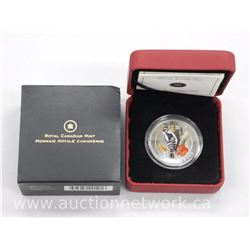 2008 - Royal Canadian Mint Rare - 'Downy Woodpecker' 25 Cent Coin . Limited Edition with Cert .