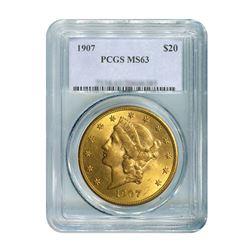 1907 $20 Liberty PCGS MS63