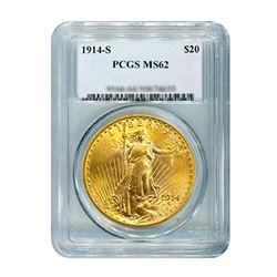 1914-S $20 Saint Gaudens PCGS MS62