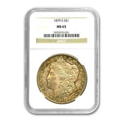 1879-S $1 Morgan Silver Dollar NGC MS65