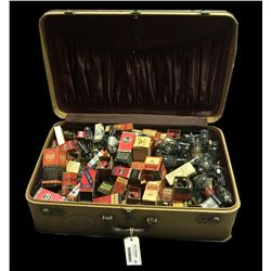 * Vintage Suitcase Full of Early Radio Valves Inc. Champion