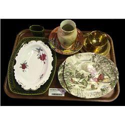 * Tray Lot - Vintage China Inc. Royal Albert 'Sweet Romance'