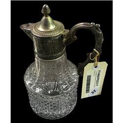 * Vintage Silverware & Cut Glass Claret Jug
