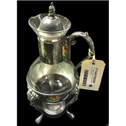 * Vintage Carafe with Silverplate Warming Stand