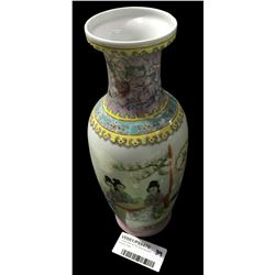 * Japanese Famille Rose Baluster Shaped Vase