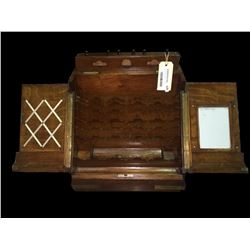 * Mid Victorian Oak Desktop Legal Stationery Cabinet