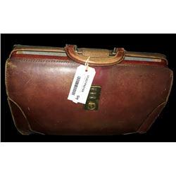 * Vintage Leather Gladstone Bag