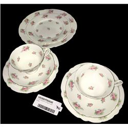 * Two Shelley Pink Rose Trios & Extras