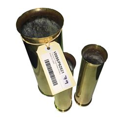 * Group of Three Brass Military Shells Inc.1945
