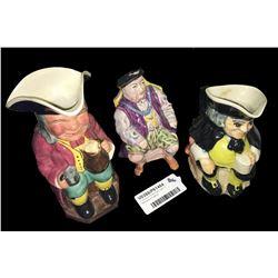 * Group of Three Toby Jugs Inc. Melbaware England