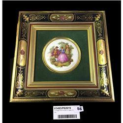 * Vintage Gold Framed Limoges Pot Lid