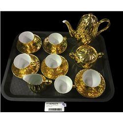 Vintage Six Place 22ct Plated St. Kilda Coffee Set