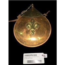 Brass & Copper Gun Powder Pouch wit Fleur-de-lis Motif