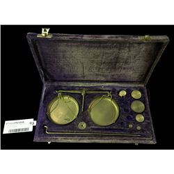 Vintage Boxed Set of Jewellers Gold Scales with Weights