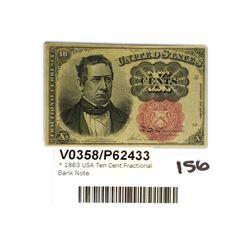 * 1863 USA Ten Cent Fractional Bank Note