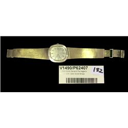 * 18ct Gold Gerard Perreganx Watch with 18ct Gold Strap