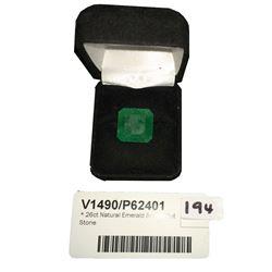 * 26ct Natural Emerald Square Cut Stone