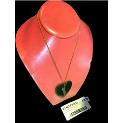 * WWI Maori Battalion Greenstone & 9ct Sweetheart Pendant