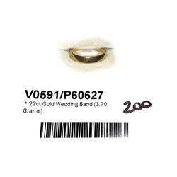 * 22ct Gold Wedding Band (3.70 Grams)