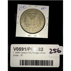 * 1890 Carson City Morgan Silver Dollar - VF