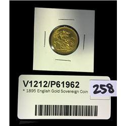 * 1895 English Gold Sovereign Coin