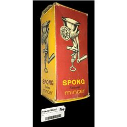 * Spong National Mincer in Original Box
