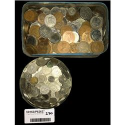 * Two Tins of Old World & NZ Coins