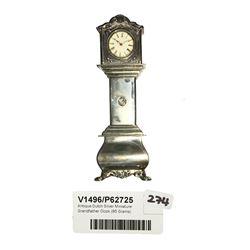 * Antique Dutch Silver Miniature Grandfather Clock (95 Grams)