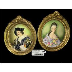 * Antique Pair Of Wedgwood & Co. Ltd Porcelain Plaques England