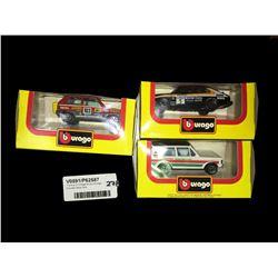 * Group of Vintage Boxed Burago Die Cast Race Cars
