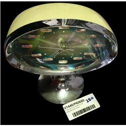 * Mid Century Rhythm Oval Japanese Side Clock