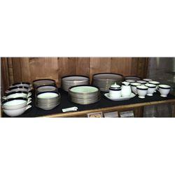 * Vintage Hutschenreuther Cobalt & Gilt Edged Dinner Service