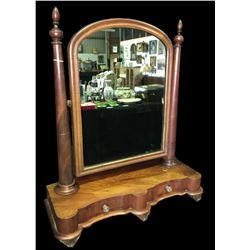 * Antique Cheval Mirror with Two Drawers