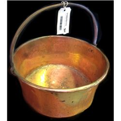 * Copper Preserving Pan with Handle