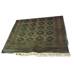 * Hand Knotted Persian Carpet in a Green/Teal Hue 1850 x 2800