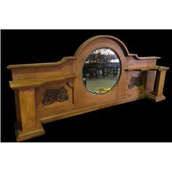 * Antique Kauri Sideboard Top with Mirror