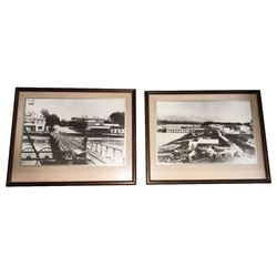 * Two Framed Antique Photos of Downtown Tauranga
