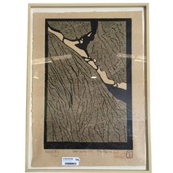 * Tom Field Limited Woodcut Print 2/25 Titled Snow Gully No1