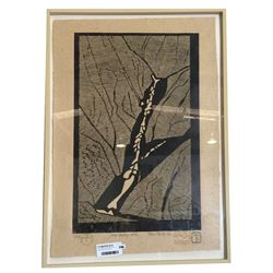 * Tom Field Limited Woodcut Print 2/25 Titled Snow Gully No3